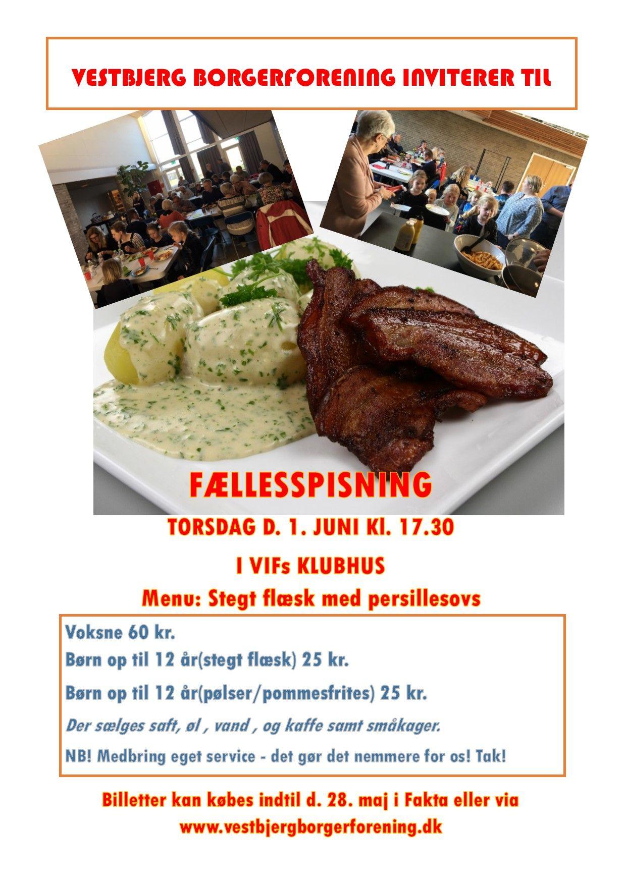 Fællesspisning 1 juni